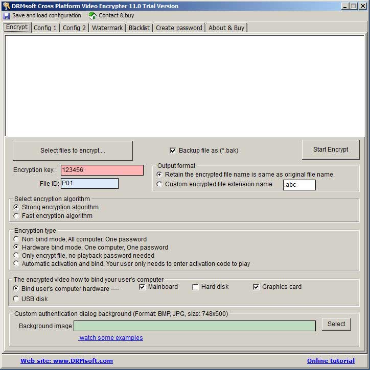 DRMsoft Cross Platform Video Encrypter, Encrypt your video to play